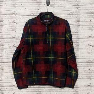 Sutter & Grant clothing Co Mens Sz:L plaid halfzip